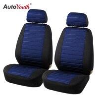 Autoyouth 5 ملليمتر رغوة فان مقعد يغطي وسادة هوائية متوافق نموذج الساخن 2 قطع غطاء مقعد سيارة عالمية سيارة التصميم الداخلية الملحقات