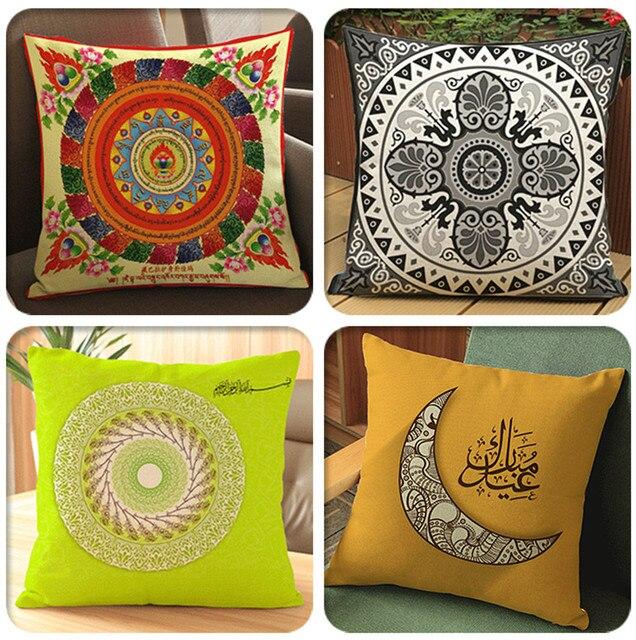 Aliexpress.Com : Buy Islamic Pattern Cushion Decorative Pillows