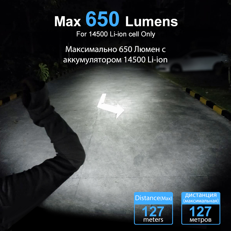 Image 3 - LUMINTOP EDC Mini Flashlight Tool AA 2.0  4  Outputs with Memory with Strobe  Max 127meters  Distance Max 650 Lumens for camping-in LED Flashlights from Lights & Lighting
