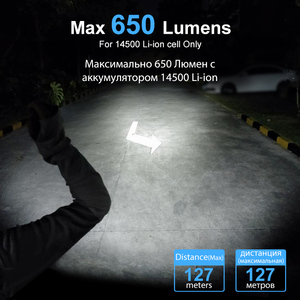Image 3 - LUMINTOP EDC Mini Flashlight Tool AA 2.0  4  Outputs with Memory with Strobe  Max 127meters  Distance Max 650 Lumens for camping