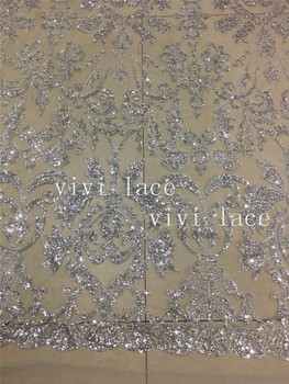 5yards BZ04# silver color  print glitter tulle african dress fabric for bridal wedding dress/evening dress/sawing