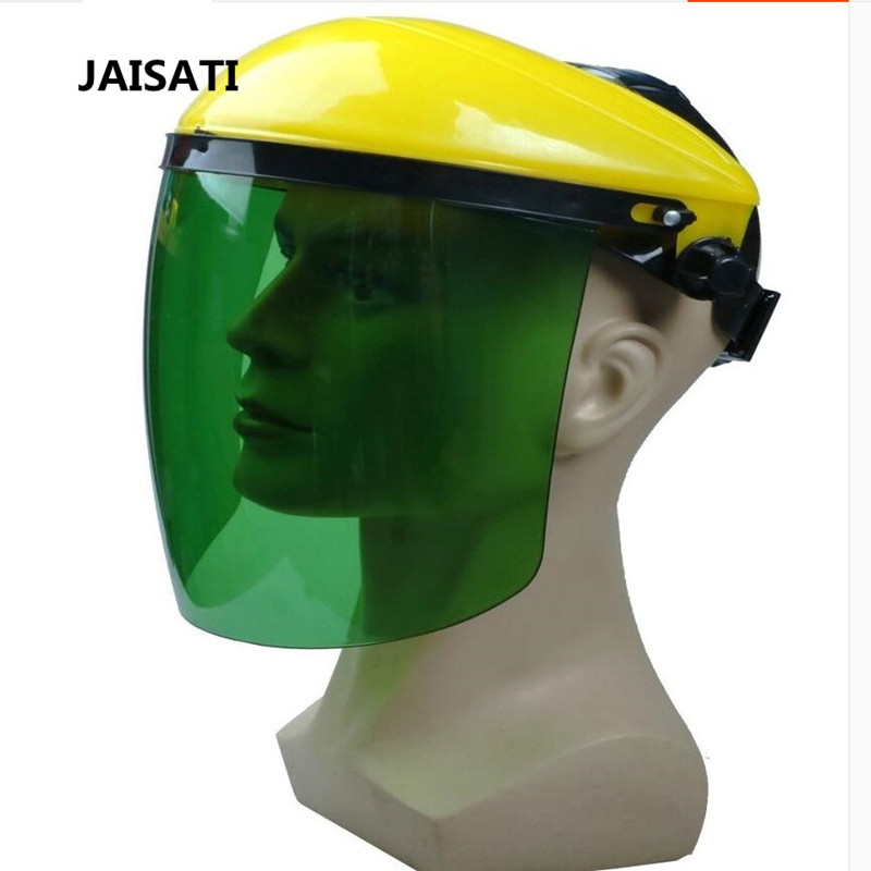 JAISATI pc plexiglass welding mask head-mounted argon shielded gas welding protective radiation spatter masks jaisati transparent protective anti oil splash welding mask headset plexiglass protective masks