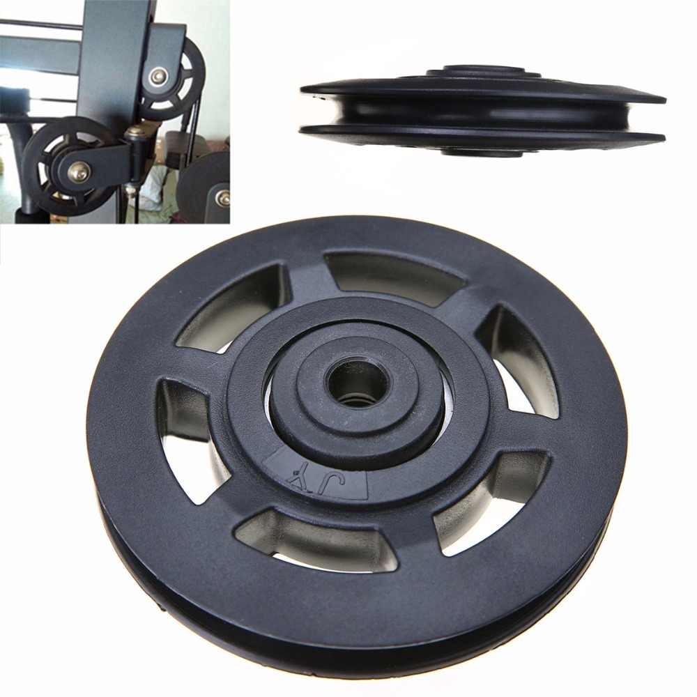 High Quality Universal 95mm Black Wearproof Bearing ABS Material Pulley Wheel Cable Gym Sport Equipments Part