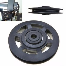 High Quality Universal 95mm Black Wearproof Bearing ABS Material Pulley Wheel Cable Gym Sport Equipments Part(China)