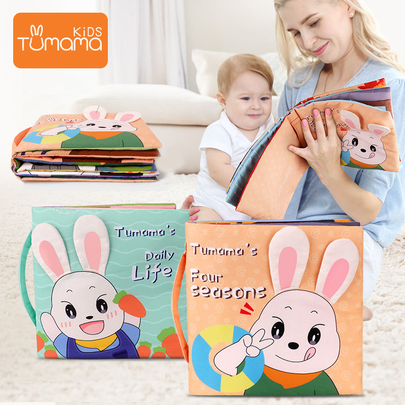 Tumama Cloth Book 3D Can Be Washable Cloth Book For Kids Baby Book Early Educational Toys Safty Resistant To Tear Books For Baby