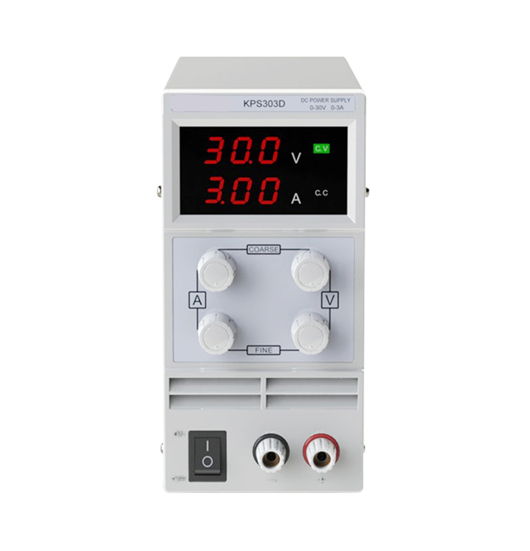 High quality 30V 3A Adjustable High Precision Double LED Display Switch DC Power Supply Protection Function EU Plug 30v 3a dc regulated power high precision adjustable supply switch power supply maintenance protection function kps303df