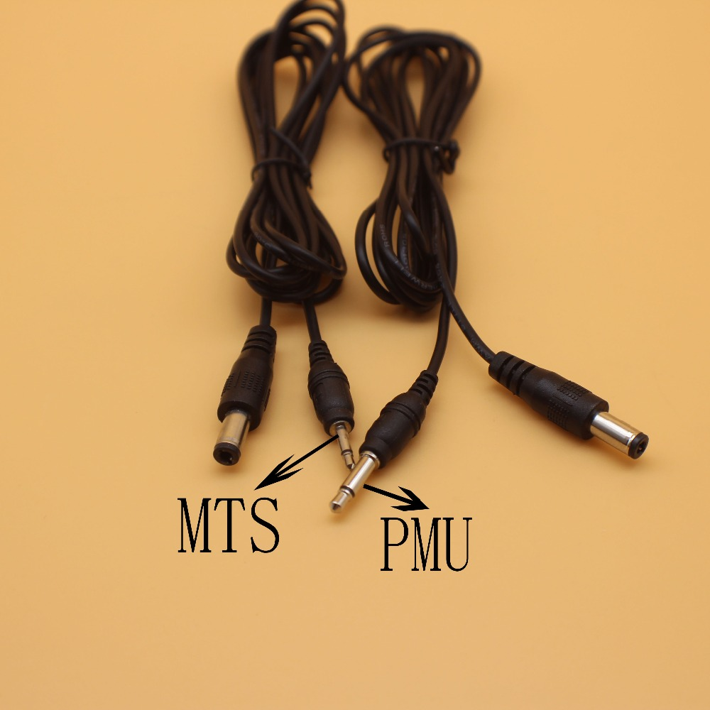 2Pcs  Digital Liberty Tattoo Machine MTS& PMU Cable Tattoo Power Supply Clip Cord for Tattoo Machine Pen cable Connection line
