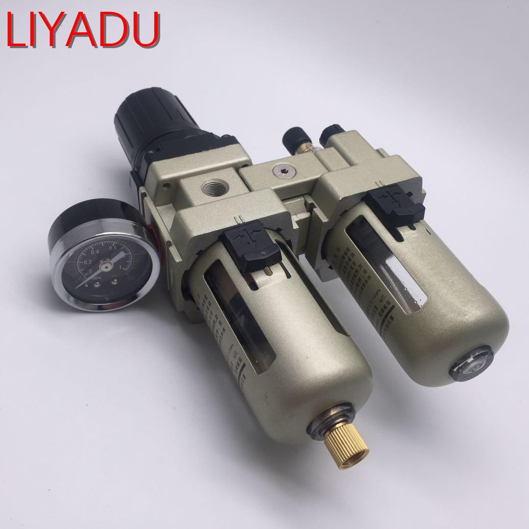 AC5010-06 G3/4 AC5010-10 G1 huile et séparateur d'eau filtres compresseur d'air vanne de régulation deux filtres à Air