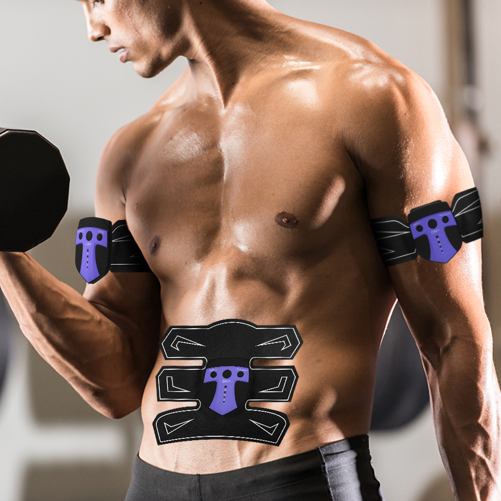 Abdominal Muscle Stimulator Slimming Belt Abdominal Muscles Trainer Smart Body Building Fitness Abs Power Fit Vibration Plate