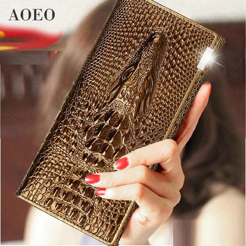 Wristlet Three Fold Wallet Female 3D Crocodile Purse Alligator Coin purse Women Wallets Lock Split Leather Long Clamp for Money