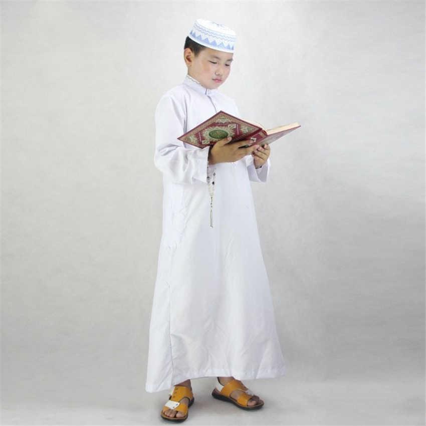 6be1053263f16 Boys Islamic Clothing for Kids Muslim Abaya Arab Dubai Turkey ...