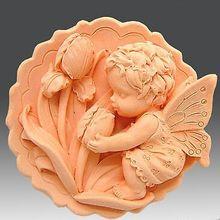 Ручной работы 3d Мыло плесень силикагель Прекрасный Ангел Мыло Плесень
