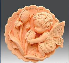 handmade 3d soap mold silica gel lovely angel mould