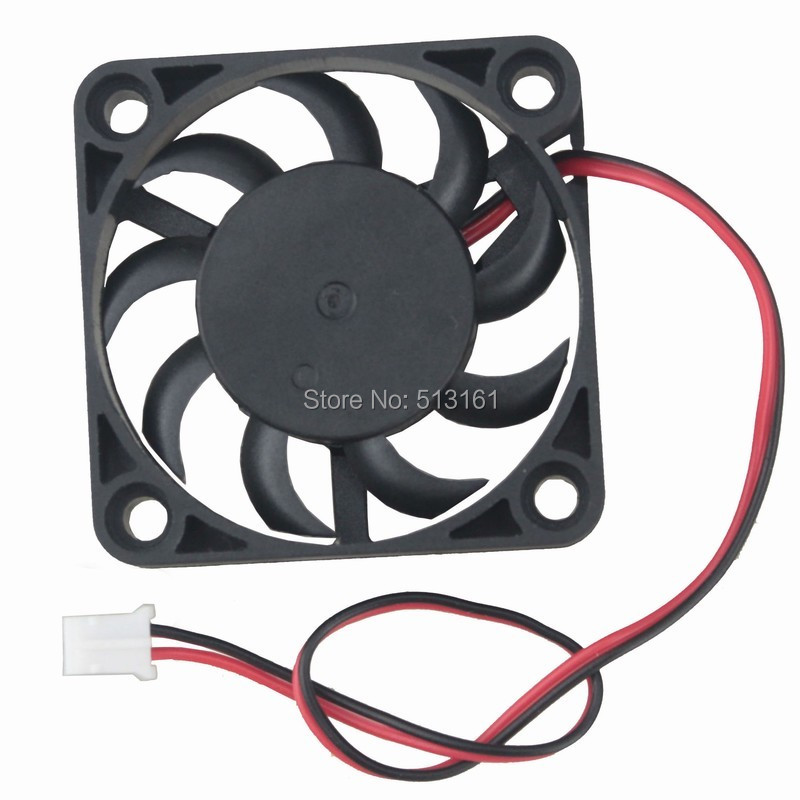 Купить с кэшбэком 5Pcs Gdstime Small Mini 2Pin 40mm 40x40x7mm 5V DC Motor Brushless Cooling Fan