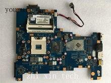 Yourui para toshiba satellite l670 l675 computador portátil placa-mãe k000103760 nalaa LA-6042P ddr3 hm55 teste todas as funções