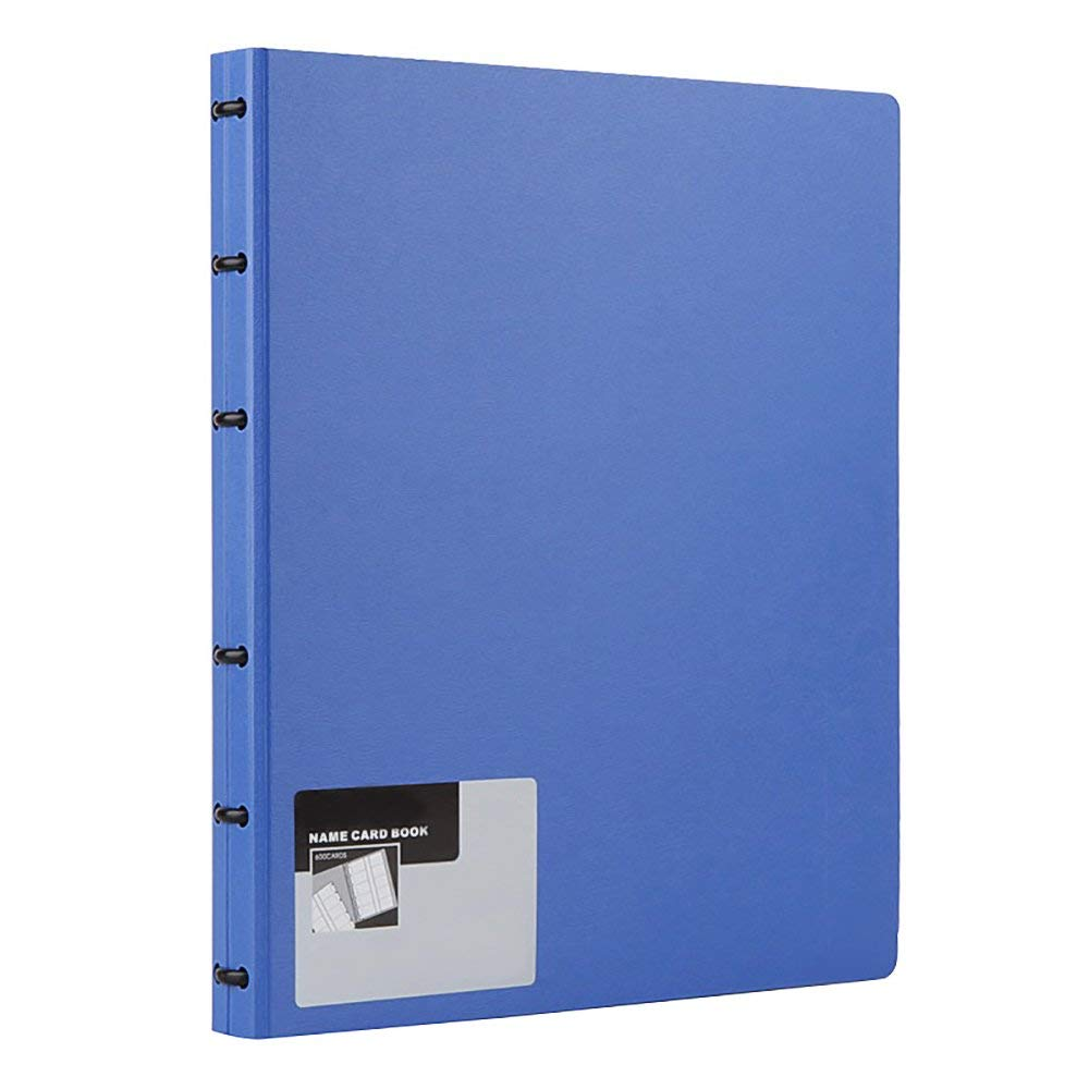 Business Card Book, Name Card Holder Book with 600 Business Cards Capacity (Blue) nn07 джинсовая рубашка
