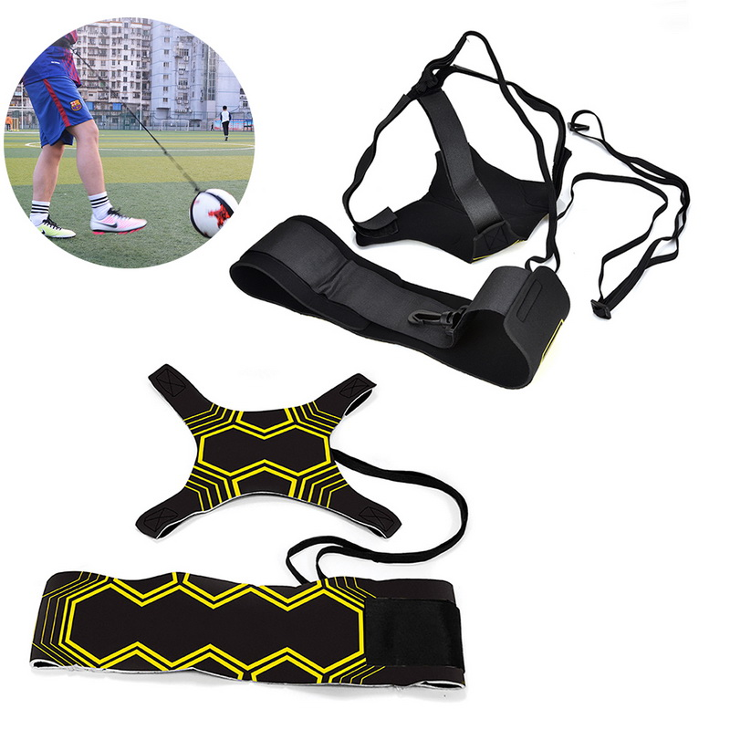 Volleyball  Football  Top Quality Sports Assistance Adjustable Soccerball Trainer Soccer Ball Practice Belt Training Equipment