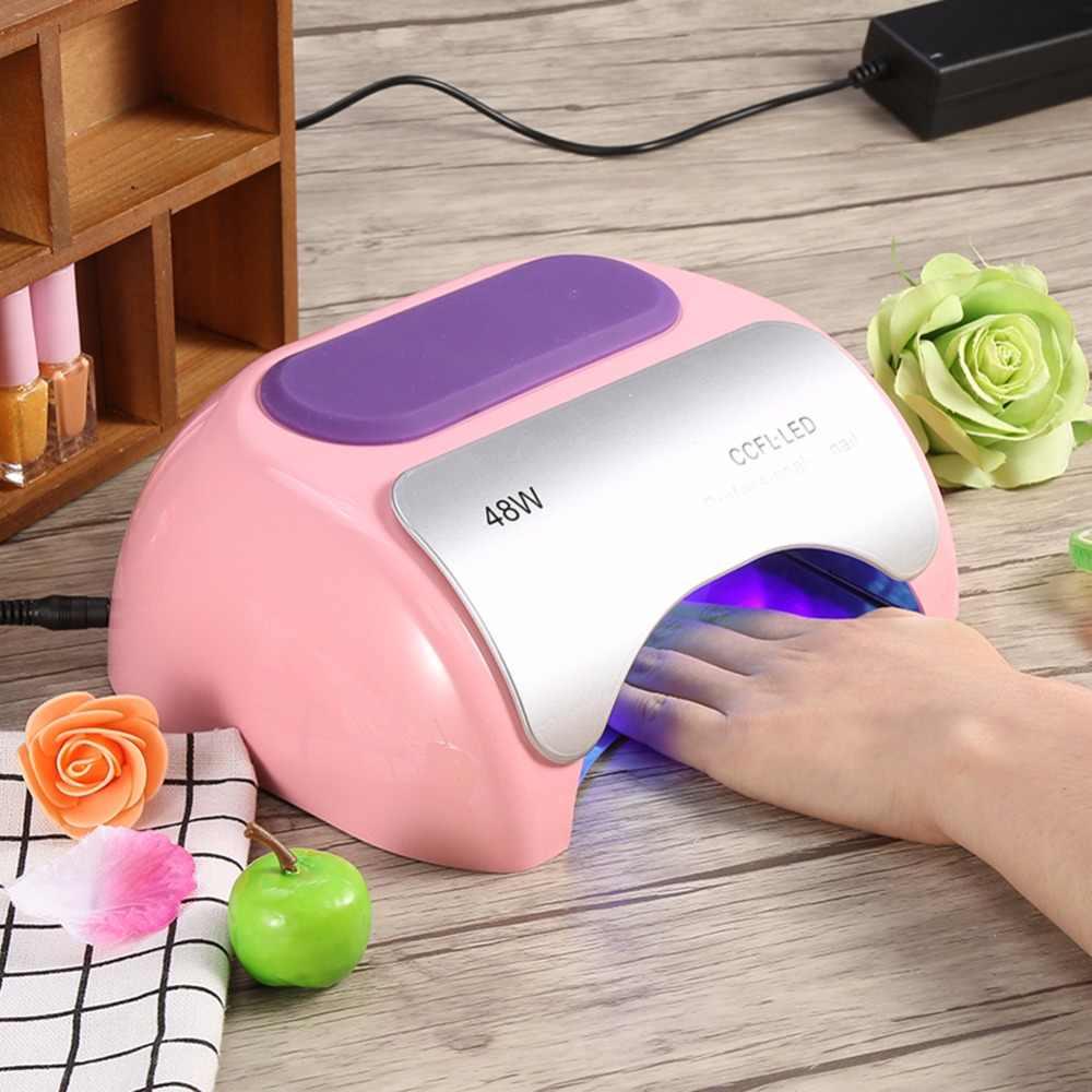 Сушилка для ногтей портативный 48 Вт для УФ-светодиодной лампы для отверждения лака для ногтей гель-сушилка Авто-индукционный Маникюр Инструмент для ногтей Горячий