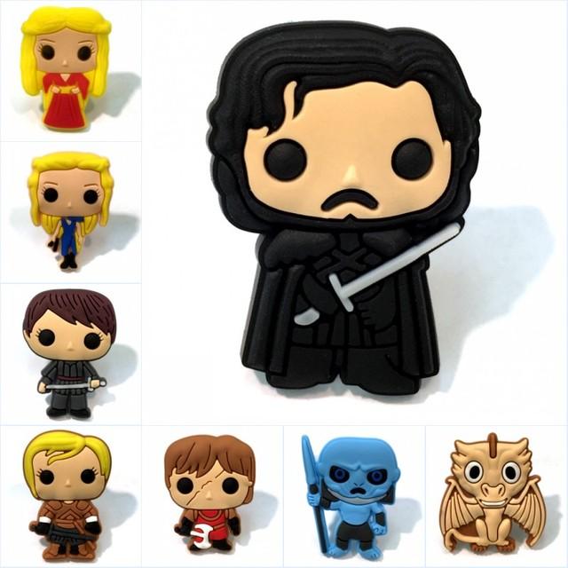1 Pcs Game Of Thrones Film Panas Mini Angka Kartun Pvc Bros DIY Pin Tombol Lencana Tas Jaket Mantel anak Hadiah