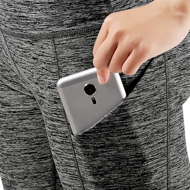 3/4 Yoga Pants women Calf-length Pants Capri Pant Sport leggings Women Fitness Yoga Gym High Waist Leggins Black Drop Shipping 5