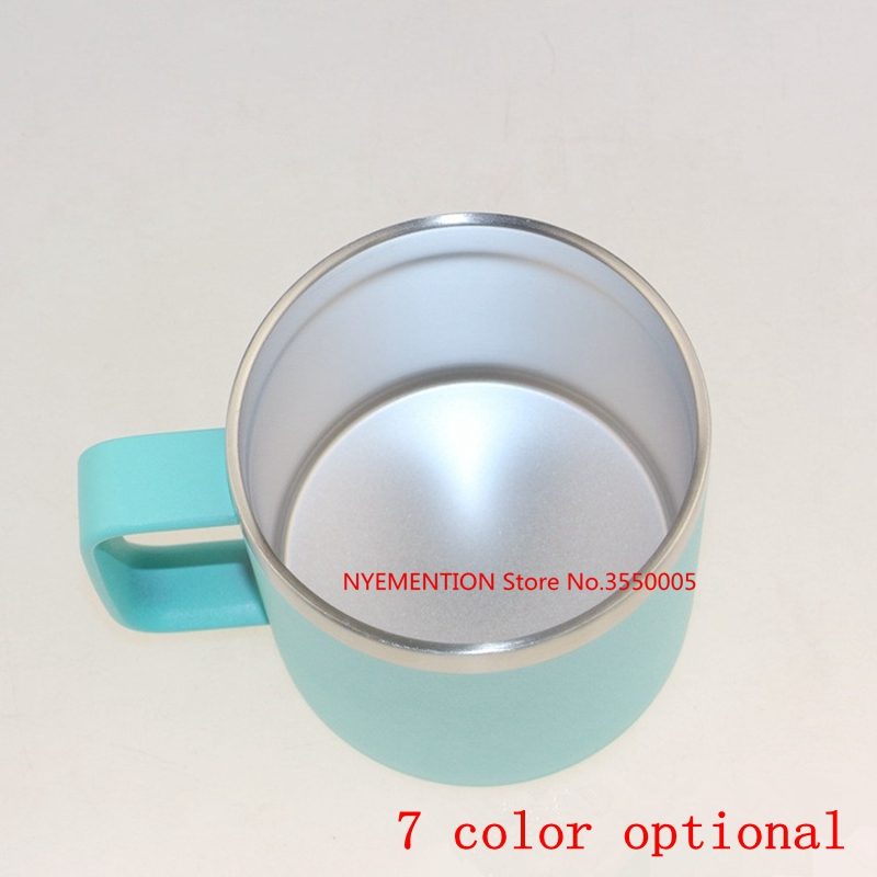2018 new 14oz / 400ml Stainless Steel Beer Mug With Handle Coffee Cups Double Wall Coffee Mugs Milk Tea Cup Creative Gift