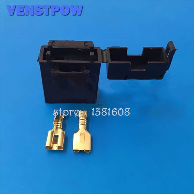 5pcs BX2017 Medium Size Car Fuse Holder Wwth Terminal Car Insurance Socket Black Lighter Frontal for Standard Fuse