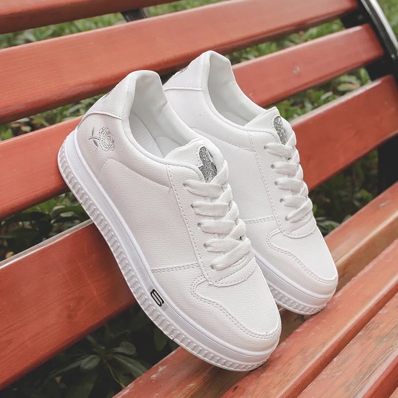 CBJSHO New Spring White Shoes Casual Women Shoes Canvas Embroidered Woman  Platform Flat Shoe Female Thick Soled Sneakers on Aliexpress.com  5b11ff2673ca