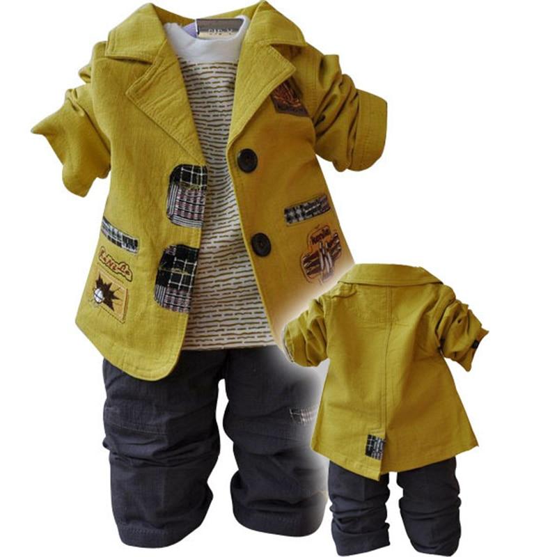 Clothes for Boys Children Sets Suit Toddler Boy Clothing Coat T-Shirt Casual Pants 3pcs Outfits Autumn Kids Roupas Infantis