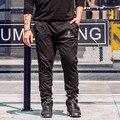 Pantalones Ocasionales de los hombres Más Tamaño Masculinos Pantalones Rectos Pantalones Casuales de color Sólido Flojo Ocasional Elástico pantalones de Chándal 2XL-6XL