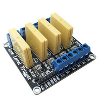 4 channel solid state relay module 5V12V24V low level DC control DC load 5A for PLC automation equipment control