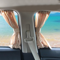 1 par elástico janela lateral do carro pára sol cortinas pára sol capa auto veículo janelas viseira de sol capa acessórios do carro|Toldos p/ janela lateral|Automóveis e motos -