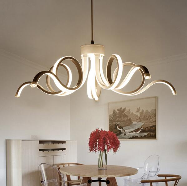 Living Room Lights Wallpaper Borders Nordic Minimalist Chandelier Designer Art Villa Double Restaurant Chandeliers Led Creative Personality Dining Simple Modern Coffee Decoration Design