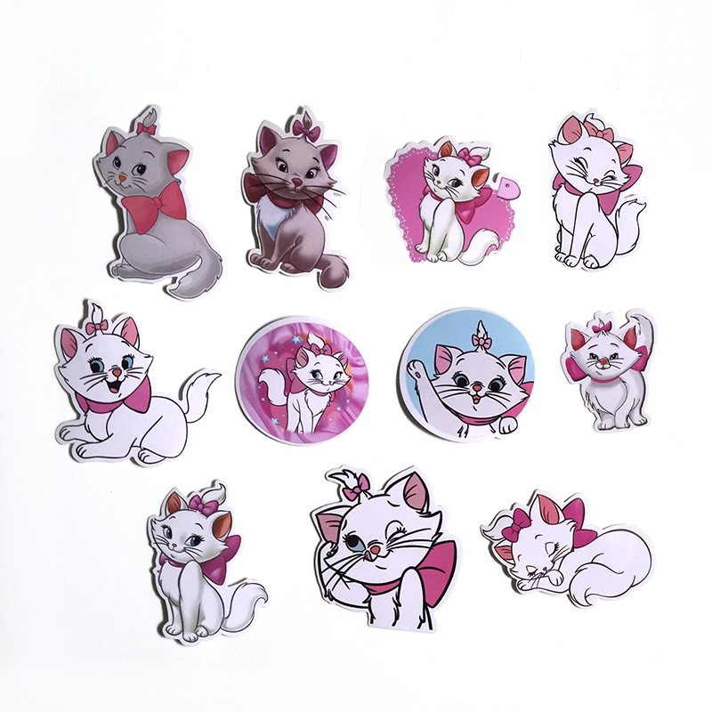 56pcs Marie Cat cartoon funny kids DIY scrapbooking album Luggage Laptop Motorcycle notebook decal Waterproof Stickers E0066 in Stickers from Home Garden
