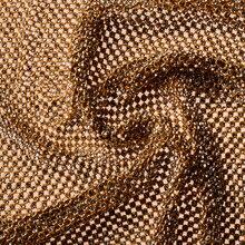 YY DIY New Golden & Silver Bling Bling Full Rhinestone Metal Mesh Fabric Metallic cloth Metal Sequin Fabric Curtain 120x45cm yy 7