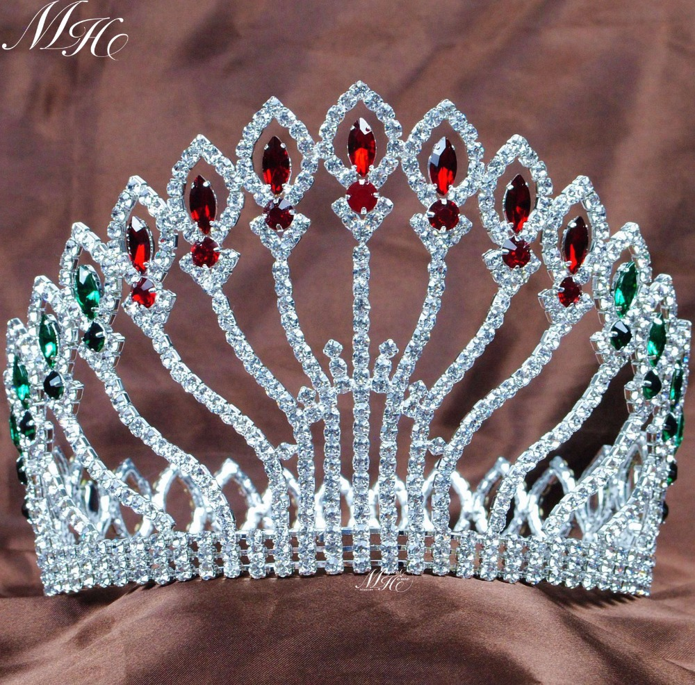 Crowns full circle round tiaras rhinestones crystal wedding bridal - Floral Multi Color Tiaras Diadem 5 Flowers Crowns Wedding Bridal Rhinestones Crystal Headband Prom