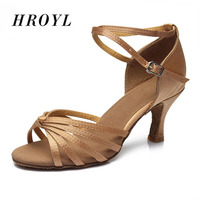 Hot Sales Satin Women Latin Dancing Shoes Ballroom Dancing Shoes Heeled 7CM