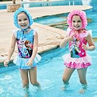 2017 Children Swimsuit Swimsuit Lovely Girls Spa Skirt Children Swimsuit Siamese Child Baby Swimming Trunks