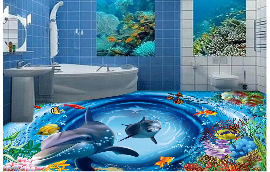 Custom photo 3d Waterproof floor wallpaper Big