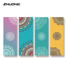 Zhuohe bikram Коврик для йоги полотенце нескользящий Печатный