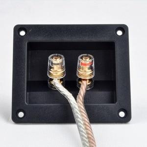 Image 1 - 2 adet Iki Pins Ses Hoparlör Muz Konektörü Bakır Terminali Hoparlör Kablo Ses Soketi