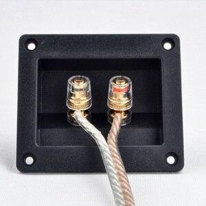 Image 1 - 2pcs Due Spilli Audio Speaker Banana Connettore di Rame di Rame Terminale di Cablaggio Degli Altoparlanti Audio Presa