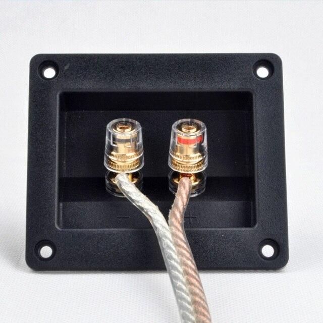 2pcs Due Spilli Audio Speaker Banana Connettore di Rame di Rame Terminale di Cablaggio Degli Altoparlanti Audio Presa