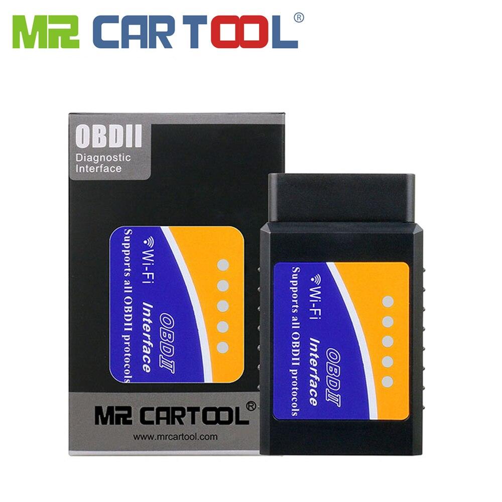 Mr Cartool Car OBD2 II ODB2 ELM 327 EML 327 V1 5 Wifi Bluetooth ELM327 Auto Scanner Diagnostic Tool For Android IOS Phone