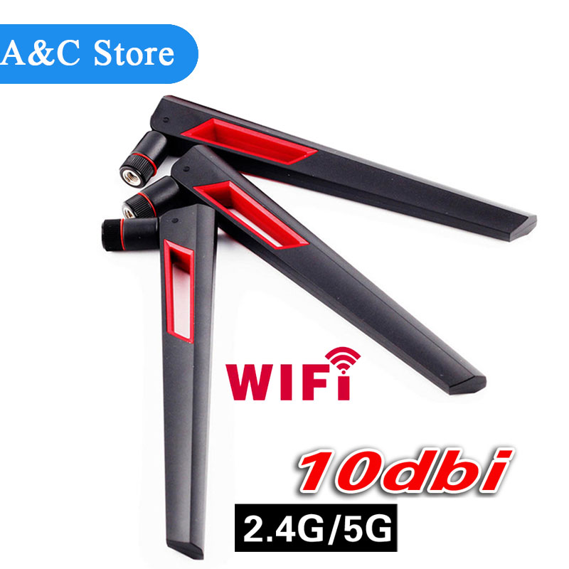 Omni-Directional Wi-Fi Long Range Dual Band 10 Dbi Antenna 2.4/5Ghz 802.11n/b/g 4pcs/lot
