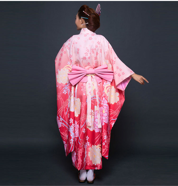 Ny parti Cosplay Cotume Japanska Kimono Kvinnor Yukata Japansk - Nationella kläder - Foto 5