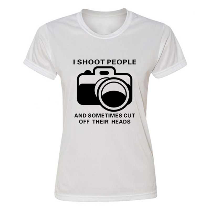 Female Original Design T Shirts Funny I Shoot People female T ...