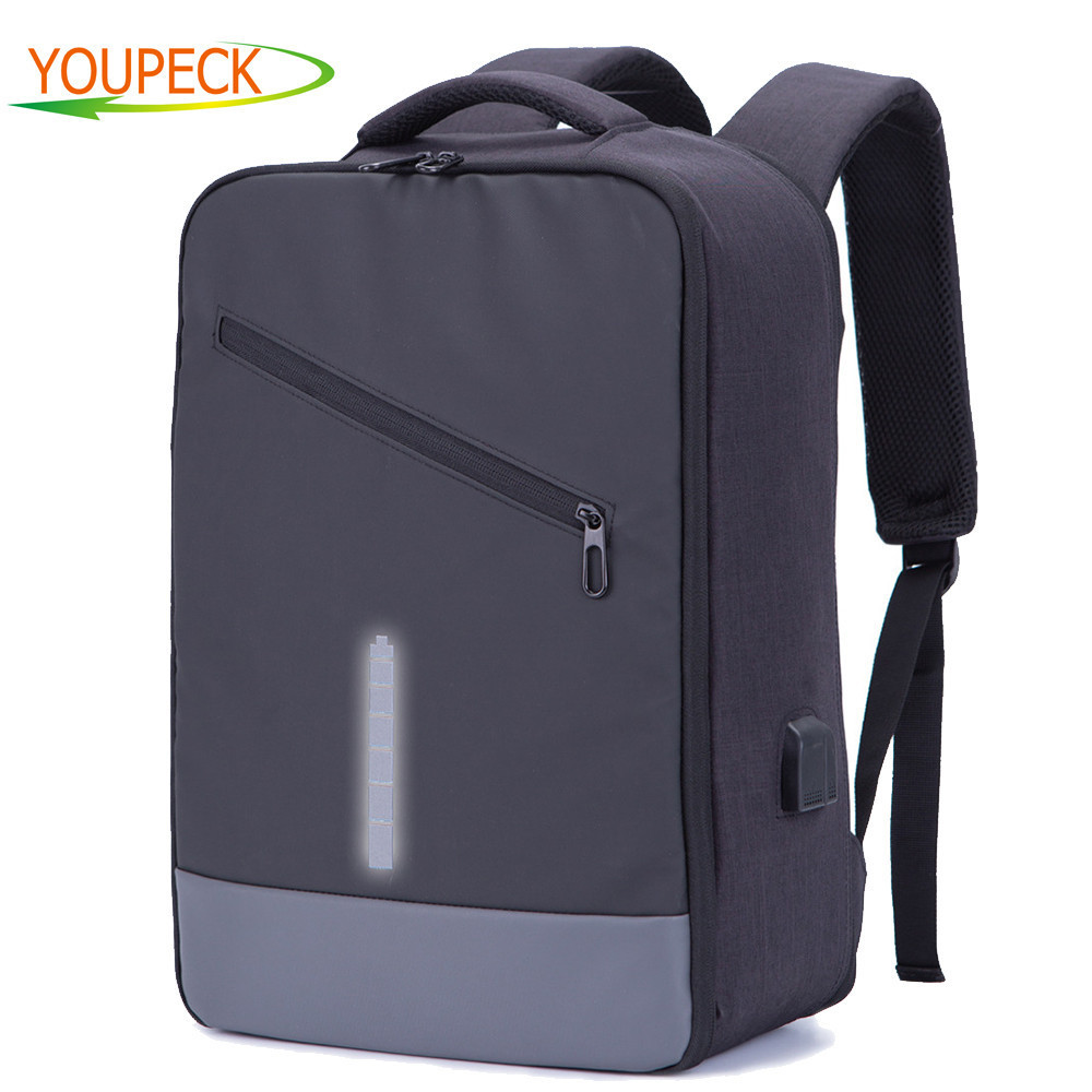 Youpeck Men Backpacks USB Charge Anti Theft Backpack Women Bag Business School Mochila Travel Daypack for