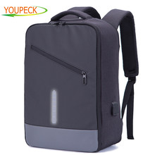 Youpeck Men Backpacks USB Charge Anti Theft Backpack Women Bag Business School Mochila Travel Daypack for 15.6 inch Laptop Bag