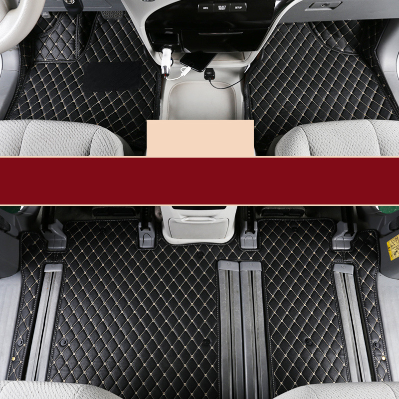 car styling fiber leather car floor interior mat for. Black Bedroom Furniture Sets. Home Design Ideas