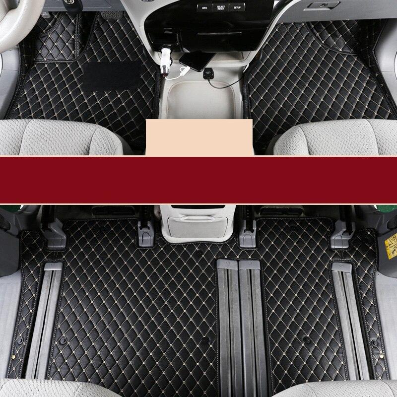 Lsrtw2017 Fiber Leather Car Floor Interior Mat For Toyota